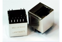 RJ45 10/100 Vertical magnetic POE+ LED