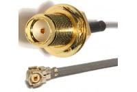 U.FL - SMA(F) Bulkhead Jack 1,13mm L-150mm