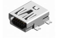 USB mini B RA smd black Au0,76um t&r pic