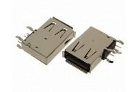 USB-A kulma-pysty naaras piirilevylle