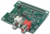 RASPBERRY PI DAC ADDON BOARD WITH RCA CONNECTORS