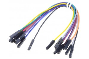 JUMPER WIRE FEMALE/FEMALE MULTICOLOR 18cm 10pcs