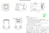RJ45 10/100 KULMA SMD muuntajilla
