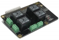 RASPBERRY PI RELAY CARD, 4 RELAYS