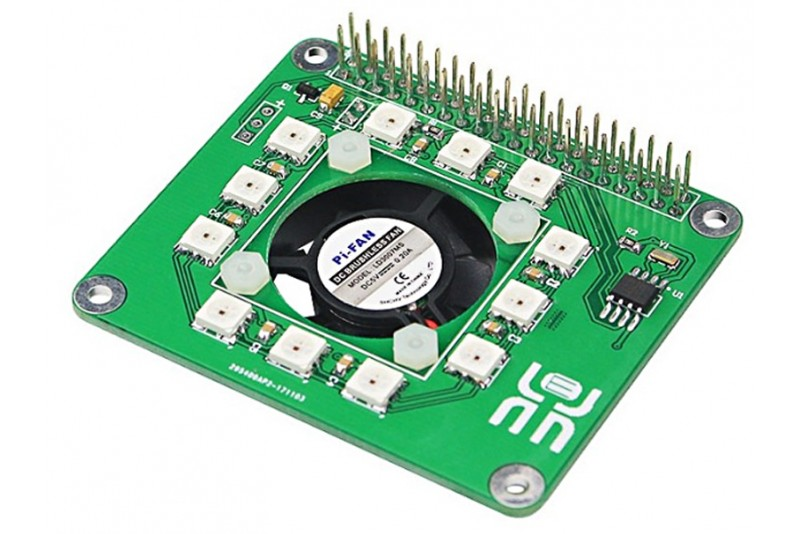 a30a7697999 Raspberry Pi 3 Smart Temperature Fan RGB LED DS1302 Real Time Clock Hat  Board ...
