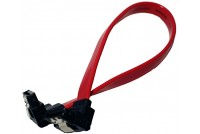 SATA 7pin male 90 deg both ends L 200mm