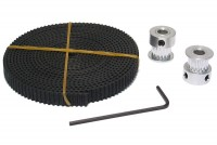 TIMING BELT SET 16T/5mm PULLEY+GT2 BELT 2m