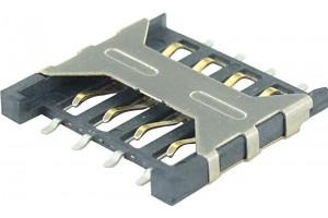 Micro SIM Card Socket Push-Pull