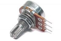 PCB POTENTIOMETER MONO 6mm SPLIT SHAFT LOG 50kohm