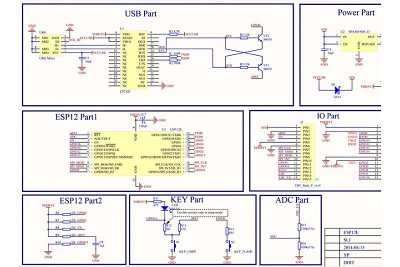 NodeMCU V2 ESP8266 Development Board (CH341) - PARTCO verkkokauppa