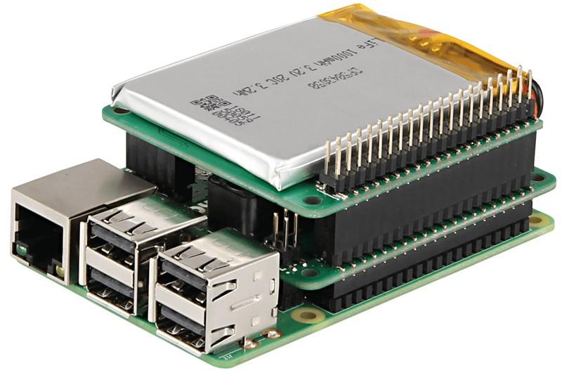 RASPBERRY PI StromPI V3 UPS POWER HAT - PARTCO verkkokauppa