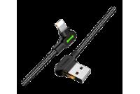 USB-2.0 KAAPELI A-UROS / LIGHTNING 0,5m KULMA