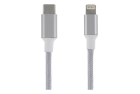 USB CABLE C MALE / LIGHTNING 0,5m