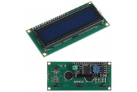 LCD DISPLAY 2x16 BLUE/WHITE I2C-INTERFACE