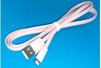 USB-LIGHTNING KAAPELI 1,2m PINKKI