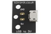 Kitronik 5109 Micro USB to 5V breakout