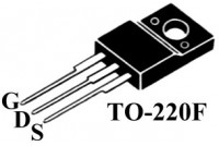 MOSFET SW STF18NM60ND TO220F