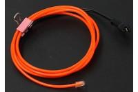 Neon Light EL wire 1000mmx2.3mm Orange