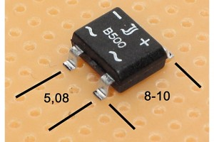 DIODE BRIDGE 1,5A 500Vrms SMD