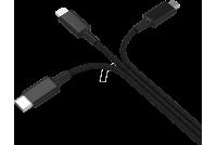 USB-KAAPELI A-USB-C/microUSB/Lightning 1,2m
