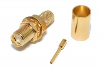SMA-CONNECTOR FEMALE CRIMP FOR RG58 CABLE