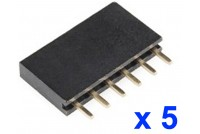 ARDUINO FEMALE PIN HEADER 1x6 (5pcs bag)