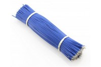 Dual Tin Wire 150mm 100pcs Pack Blue