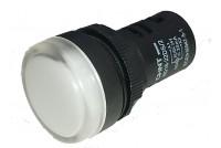 LED-MERKKIVALO Ø22mm 230V VALKOINEN