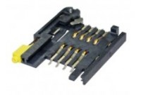 SIM Card Socket Bar push, 8pin, with switch