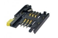 SIM Card Socket Bar push, 6pin, with switch