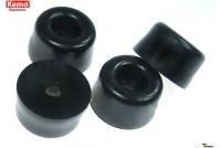 ENCLOSURE RUBBER FEET 50PCS 12x7mm black