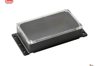PLASTIC ENCLOSURE 121x71x31mm transparent