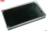 PLASTIC ENCLOSURE 120x70x15mm läpinäkyvä