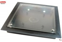 PLASTIC ENCLOSURE 130x130x17mm transparent