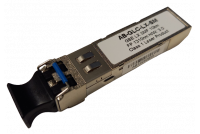 Gigabit Ethernet SFP module Single-mode for 1310nm wavelength, with LC duplex connection.