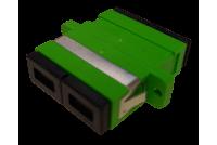 SC / APC Duplex -adapteri, vihreä Singlemode