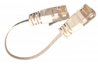 FLAT CAT6 CABLE 0,15m WHITE
