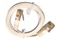FLAT CAT6 CABLE 1m WHITE