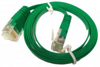 FLAT CAT6 CABLE 1m GREEN