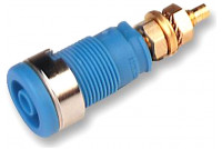 4mm SAFETY BANANA SOCKET BLUE