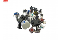 Micro switches and buttons, approx. 30 pcs