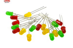 LEDs red-green-yellow Ø 5mm, approx. 18 pieces