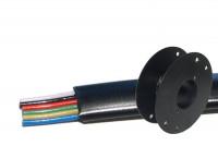MODULAR CABLE 6-POLE BLACK 100m reel