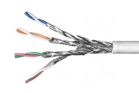 SOLID TWISTED PAIR CABLE CAT6 4x2 WHITE