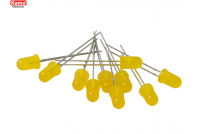 LED Ø 5mm yellow, approx. 10 pieces