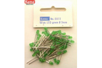 LED Ø 3mm green, approx. 50 pieces