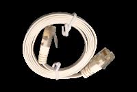 Litteä CAT6-kaapeli UTP 0,5m, valkoinen