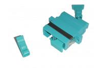 SC Dpx Adapt OM3 Aqua Zr sleeve+ flange