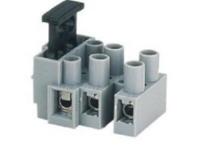SCREW TERMINAL BLOCK 3-WAY 0,5-2,5mm2 WITH FUSE HOLDER