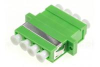 LC/APC Quad adapteri, vihreä Singlemode